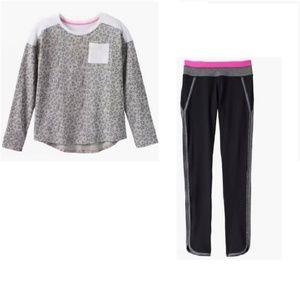 Cheetah Print top and Black yoga Pants size 16